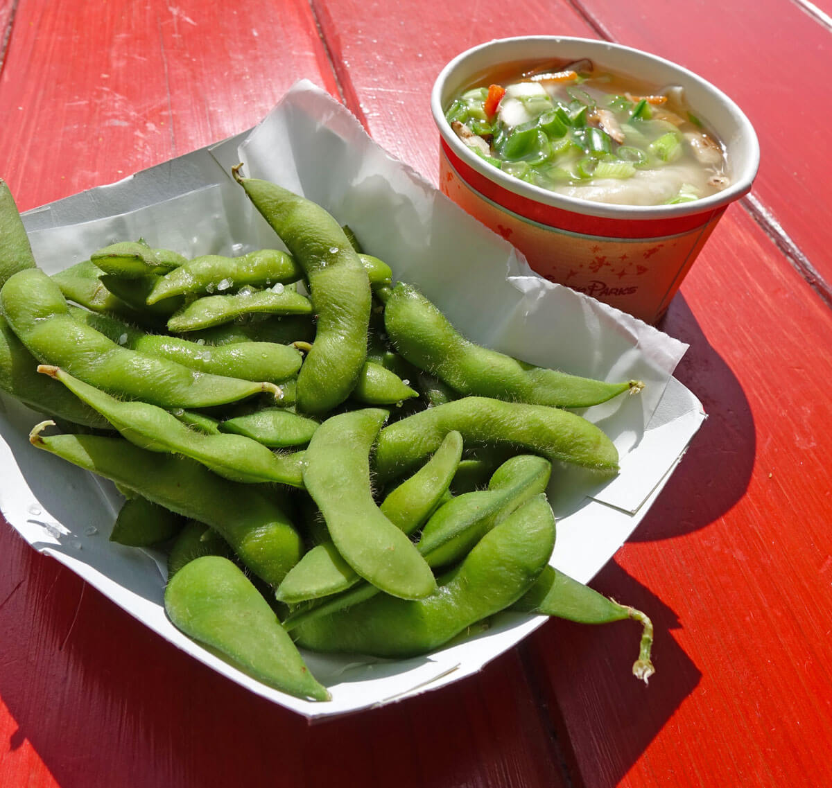 Most filling snacks at Disney World - Edamame
