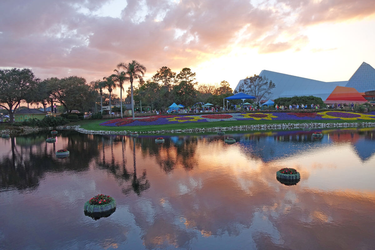 Epcot Flower and Garden 2017 - Sunset