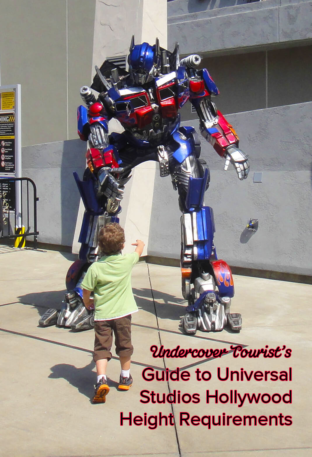 Universal Studios Hollywood height requirement