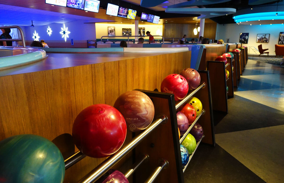 Split Stay in Orlando - Universal's Cabana Bay Beach Resort Bowling Alley
