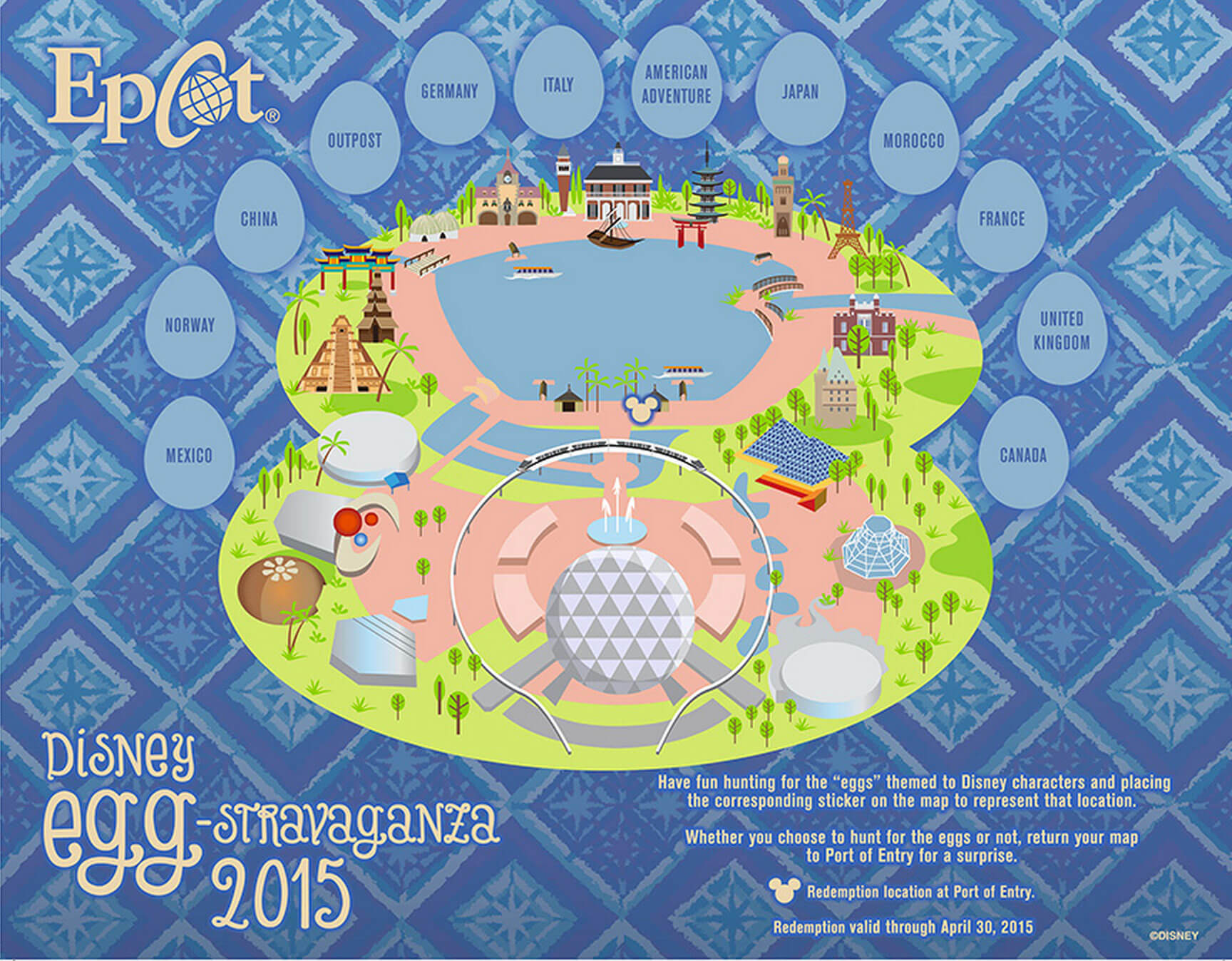 Top ways to celebrate easter at disney world easter at disney world epcot easter egg map gumiabroncs Image collections