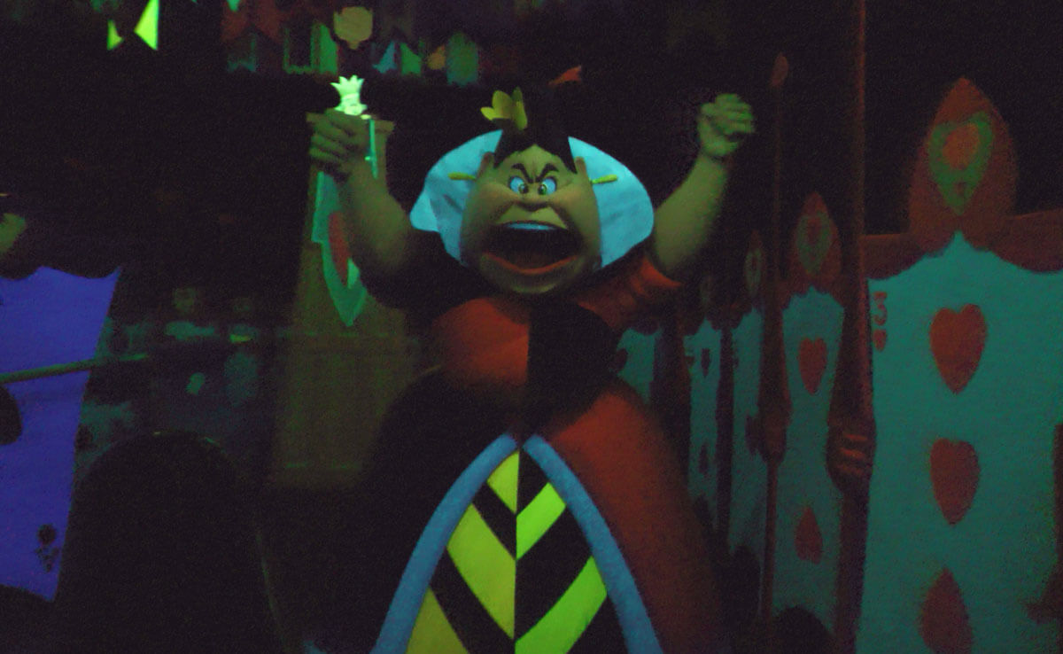 Scariest Rides at Disneyland - Alice in Wonderland