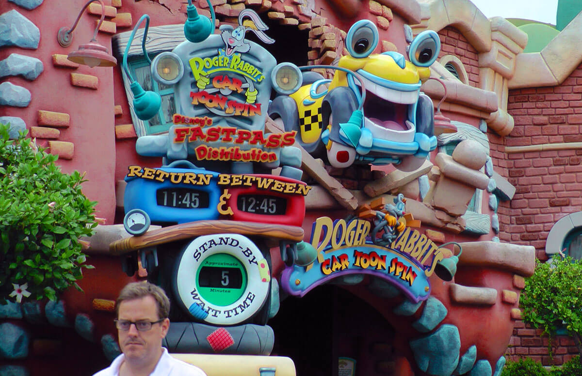Disneyland Scary Rides - Roger Rabbit's Car Toon Spin