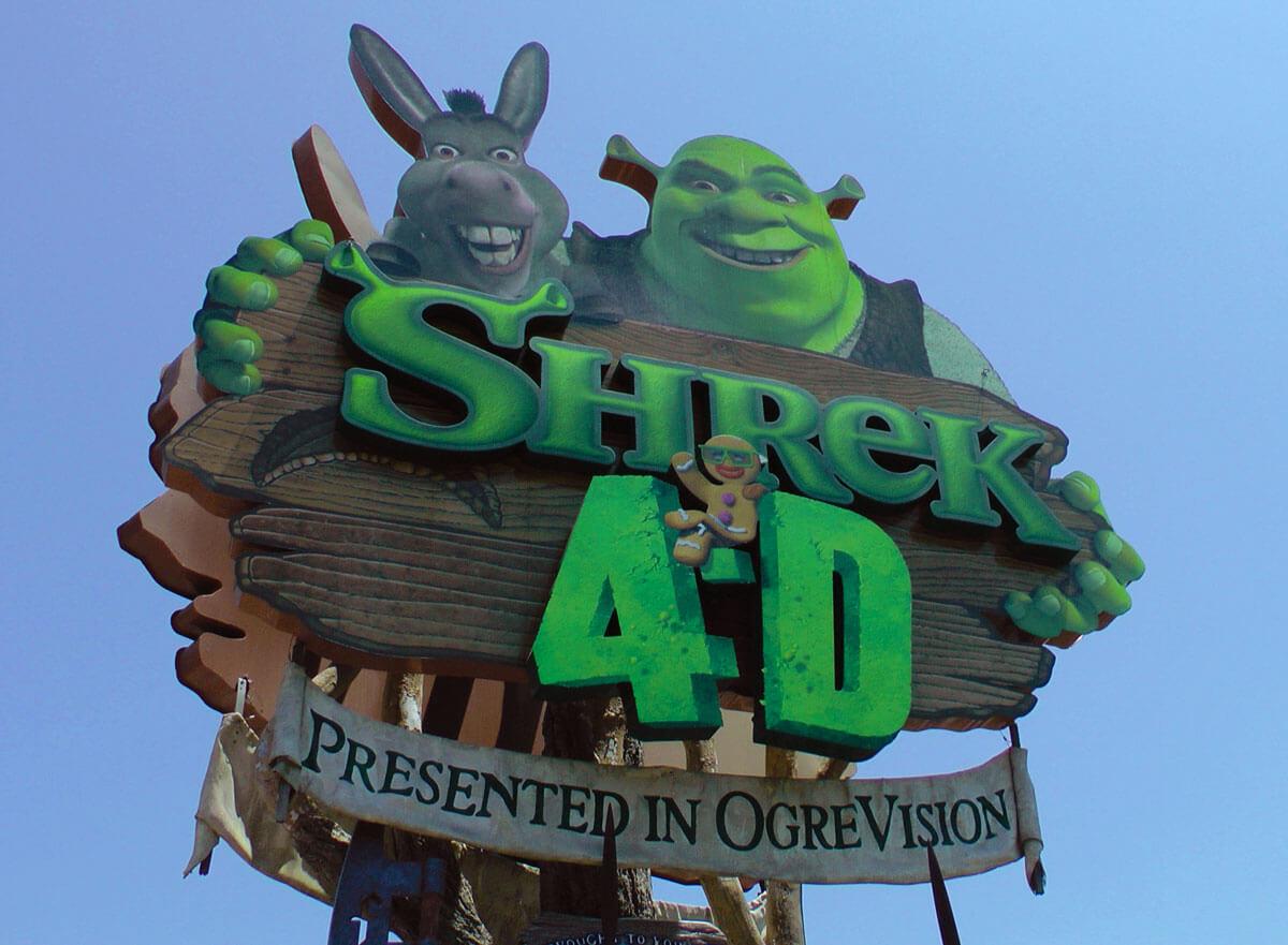 Universal Studios Hollywood top rides - Shrek 4-D