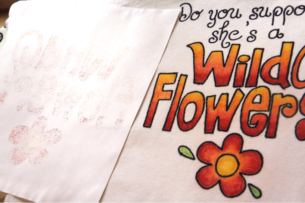 Alice in Wonderland Wildflower T-Shirt Project