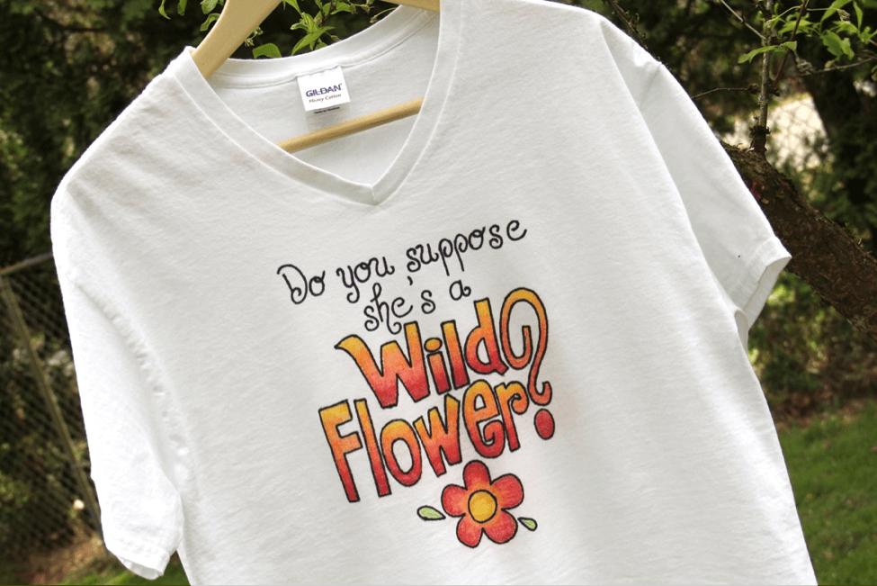 Alice in Wonderland Wildflower T-Shirt Project
