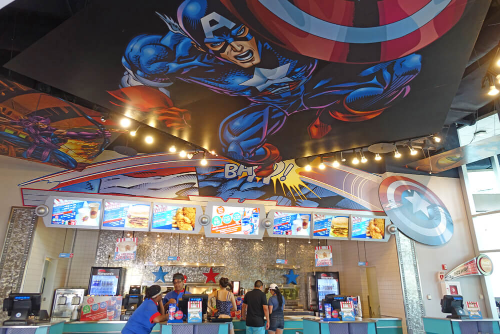 Islands of Adventure Counter Service Restaurants - Captain America Diner