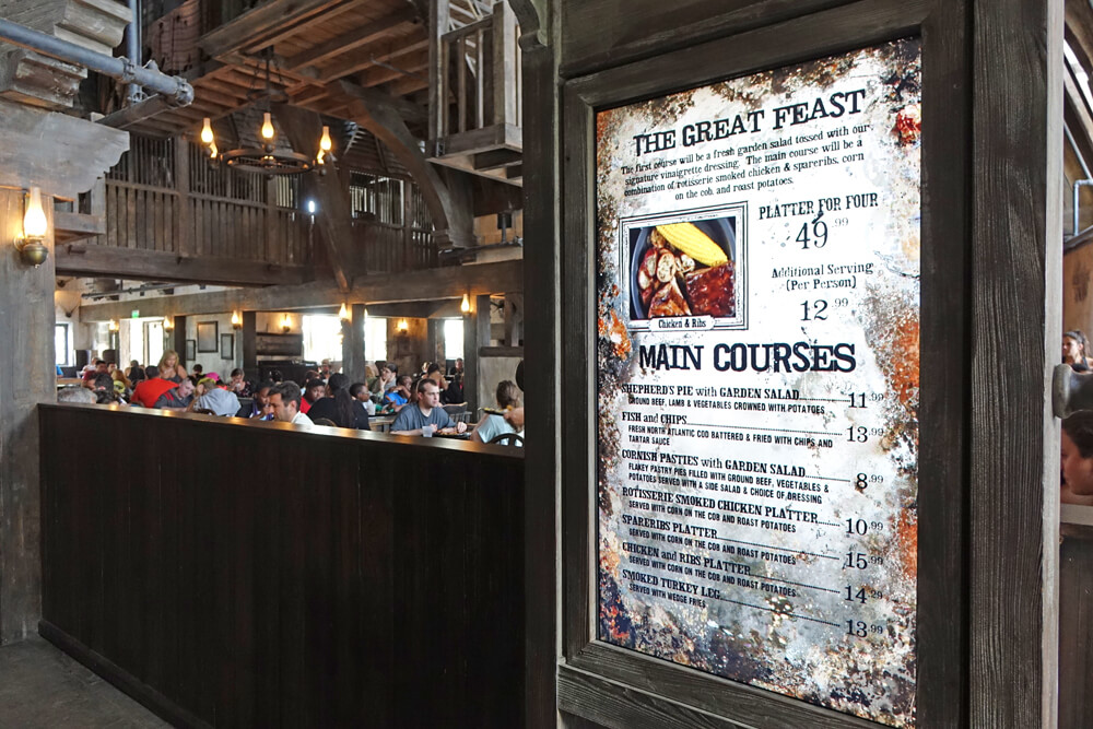 Islands of Adventure Counter Service Restaurants - Three Broomsticks