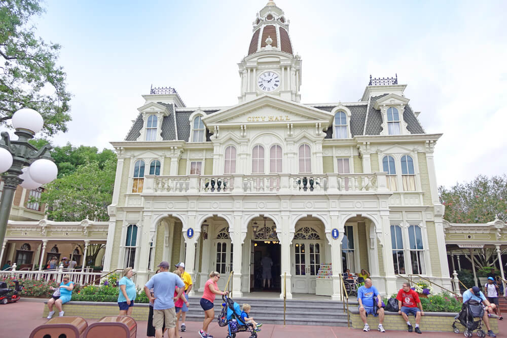 Disney disability card overview - Magic Kingdom City Hall