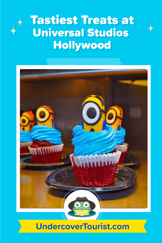 Universal Studios Hollywood Treats - Minions Cupcake