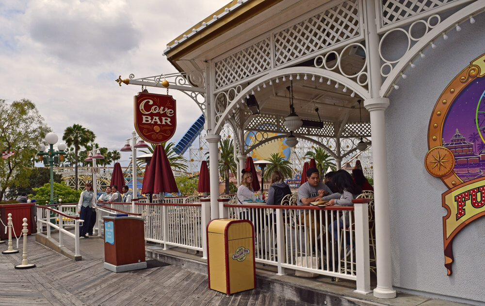 Best Table Service Restaurants at Disney California Adventure - Cove Bar
