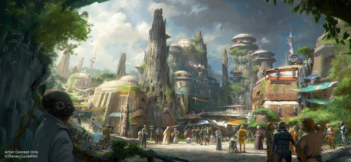 Star Wars Land Rendering for Disney World and Disneyland