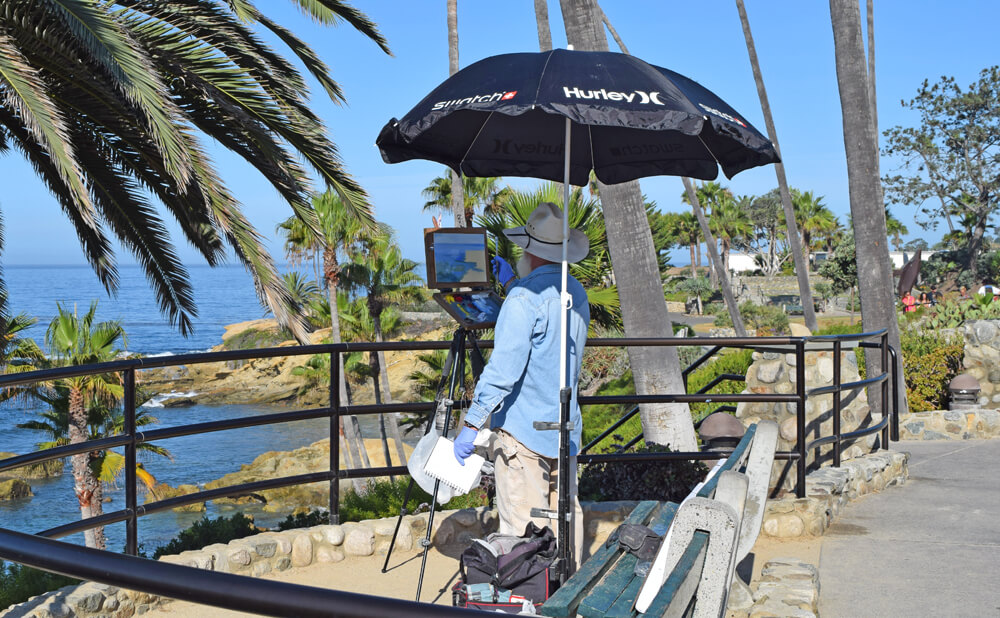 Day Trips in South Orange County - Artists Painting in Laguna Beach