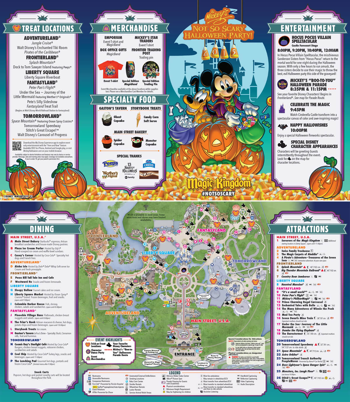 Mickey's Not So Scary Halloween Party 2015 Map