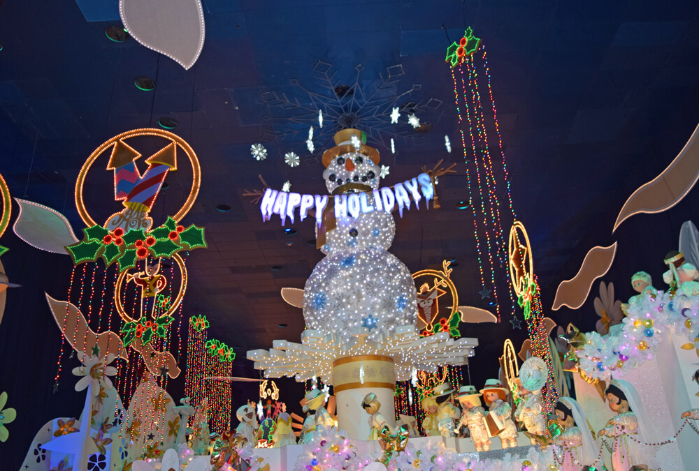 New Year's Eve at Disneyland - it's a small world