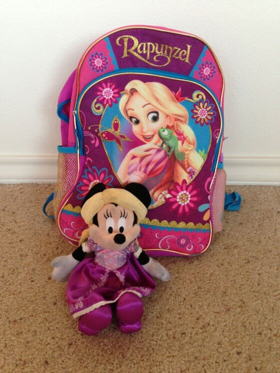 We're Going to Disney - Minnie and Rapunzel Backpack