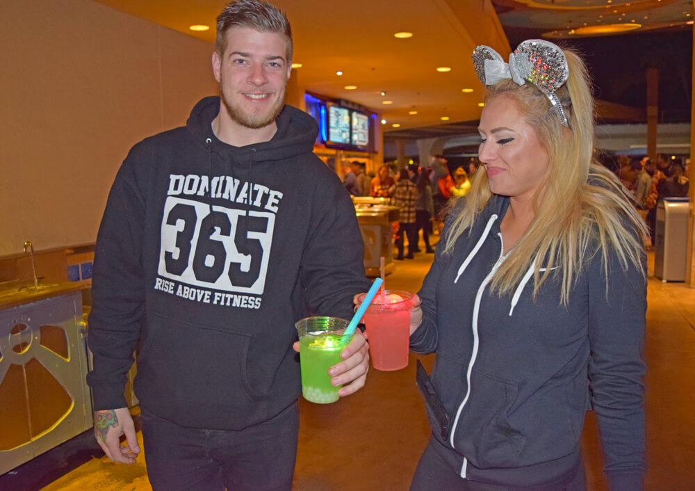 Season of the Force Treats at Disneyland - Light Saber Drinks
