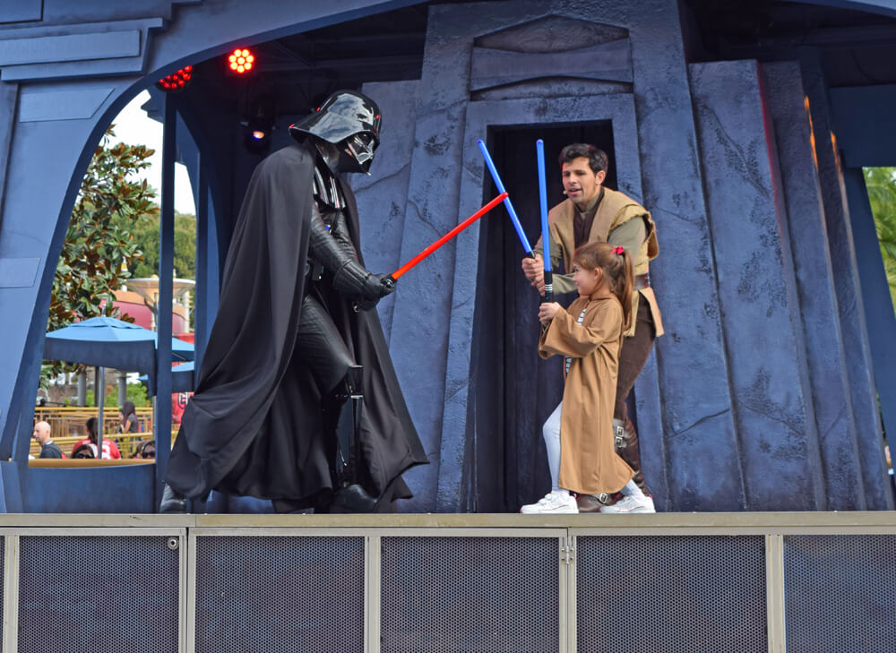 Jedi Training Academy at Disneyland - Battling Darth Vadar