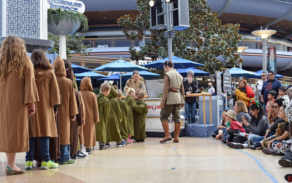 Jedi Training Academy at Disneyland - Getting Light Sabers