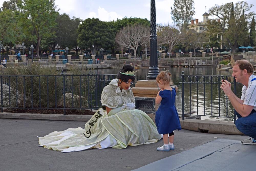 Meeting Princesses at Disneyland - Tiana