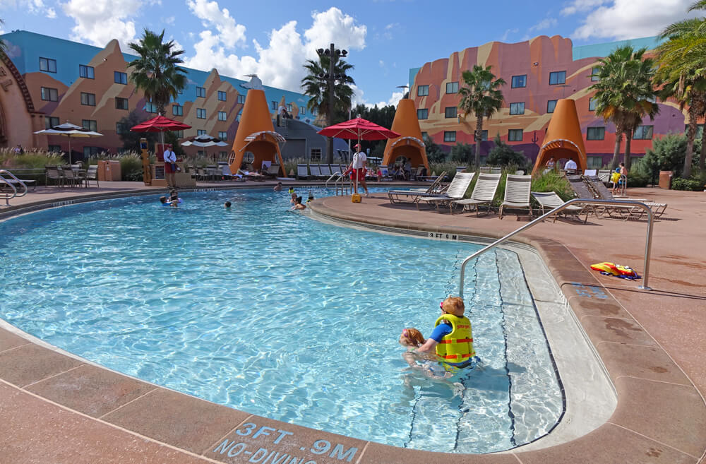 Disney World Spring Break - Cozy Cone Pool at Disney's Art of Animation