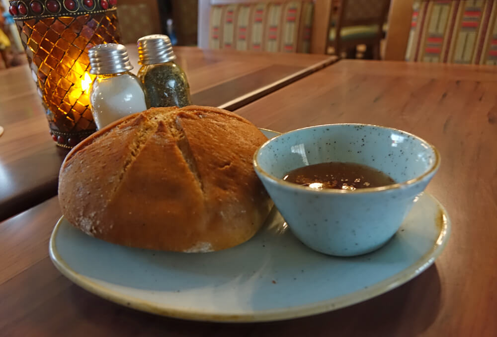 Jungle Navigation Co. Ltd. Skipper Canteen Review - Bread and Dipping Sauce