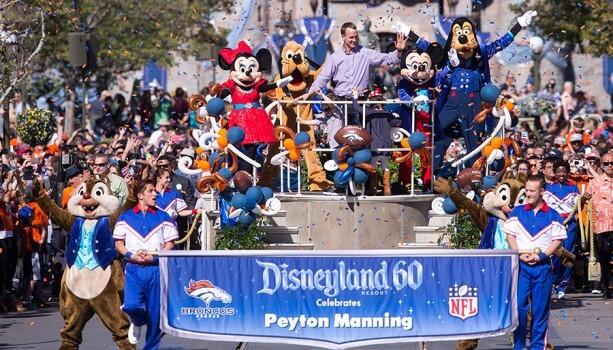 Peyton Manning at Disneyland