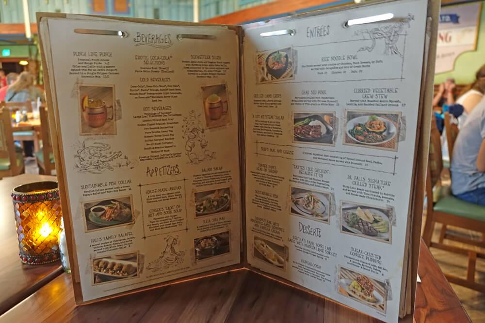 Jungle Navigation Co. Ltd. Skipper Canteen Review - Menu