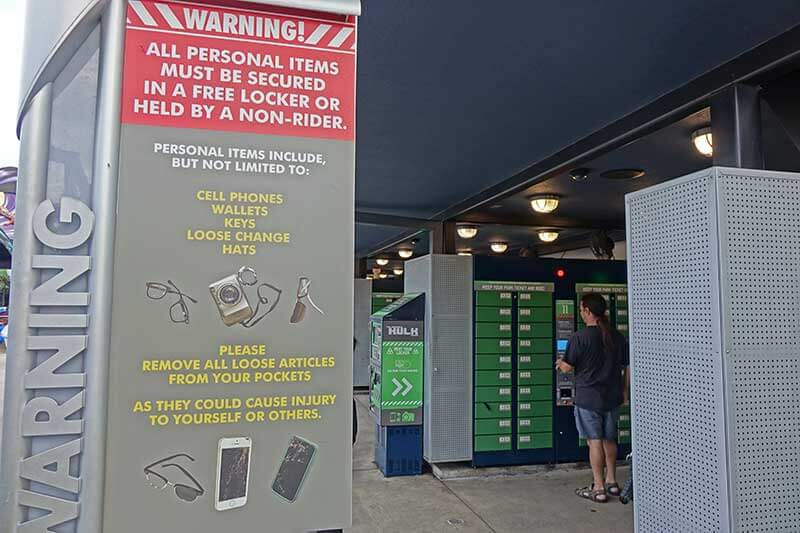 Universal Orlando Lockers for Rides - Complimentary Lockers
