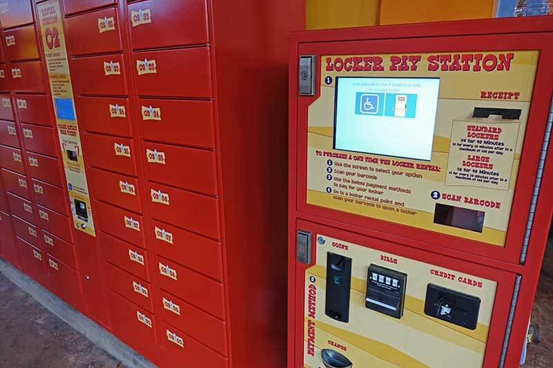 Universal Orlando's Lockers for Rides - How to Use Lockers