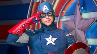 Captain America at Disneyland