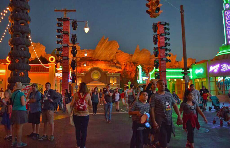 Must- See Cars Land Attractions - Cars Land at Night