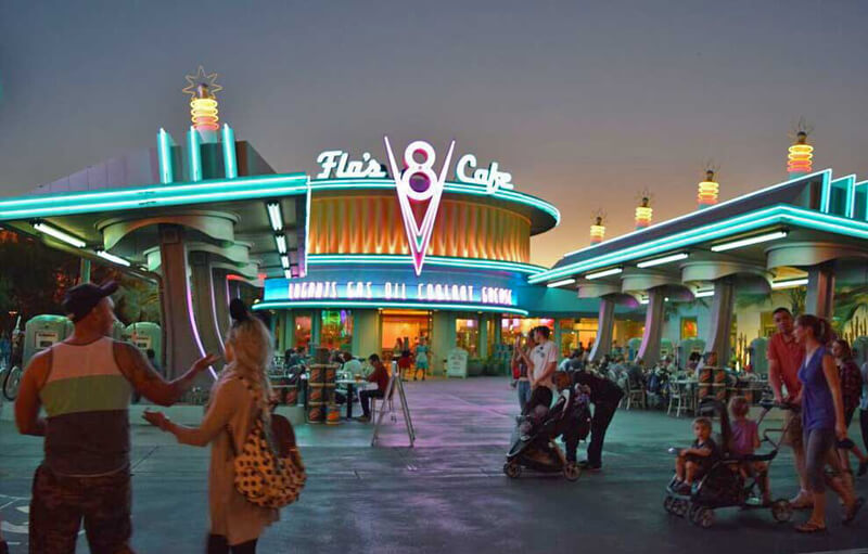 Must- See Cars Land Attractions - Flo's V8