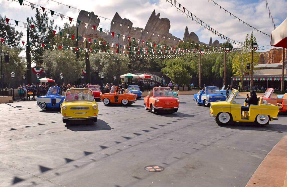 Disney California Adventure rides - Luigi's Rollickin' Roadsters