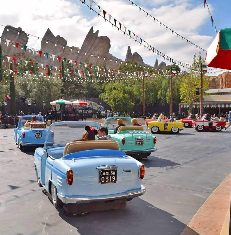Must- See Cars Land Attractions - Luigi's Rollickin' Roadsters