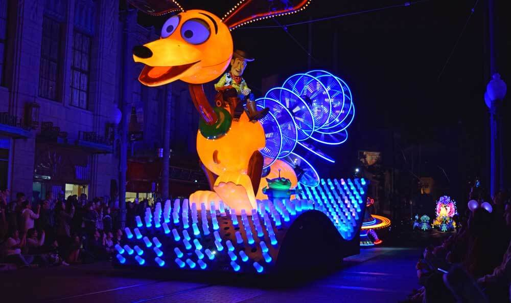 Paint the Night Parade at Disney California Adventure - Toy Story