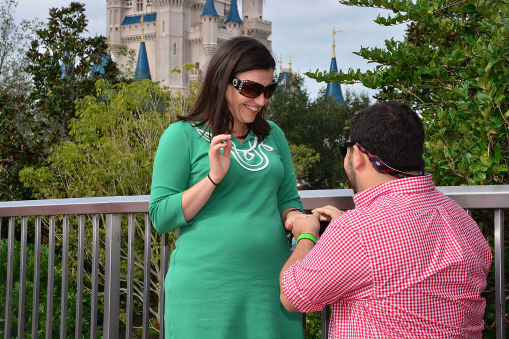 Ashley Engaged at Disney World - Proposal in Front of Cinderella Castle