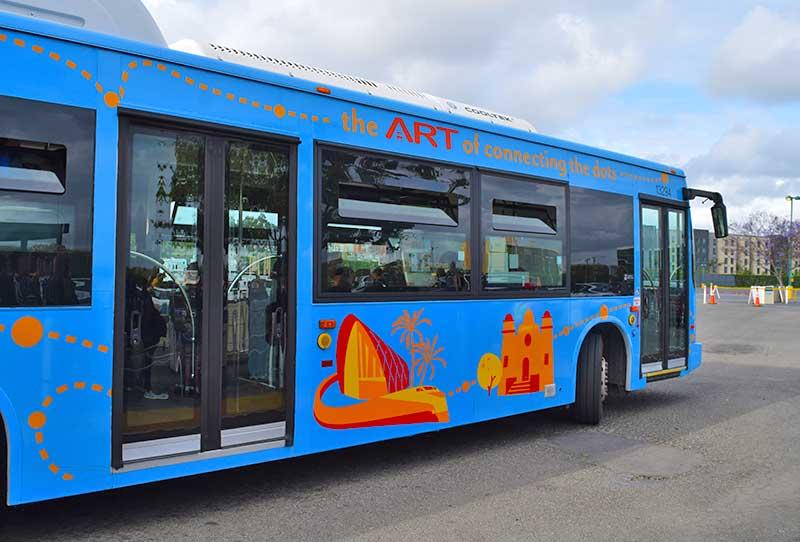 Taking Public Transportation to Disneyland - Public Bus