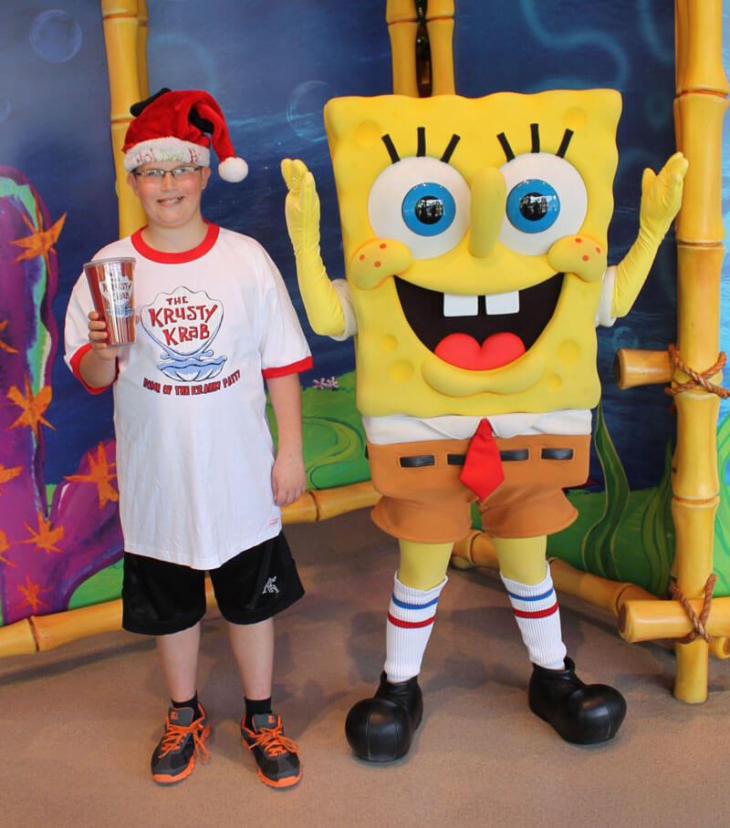 Character Greetings at Universal Orlando - Sponge Bob