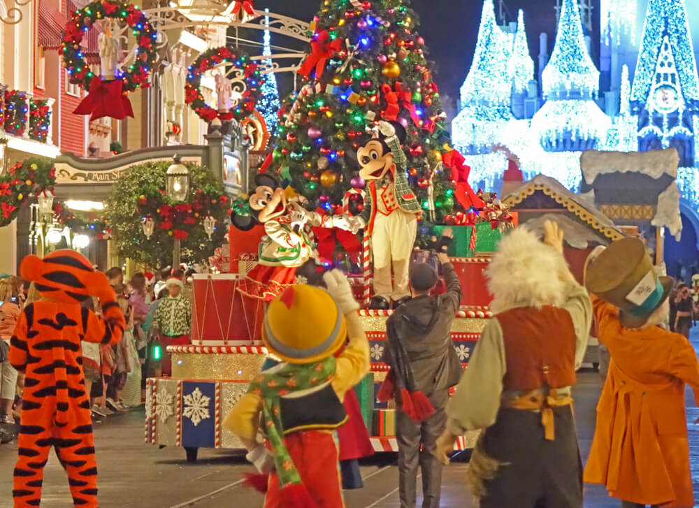 disney world special events in 2018 mickeys once upon a christmastime parade at mickeys very