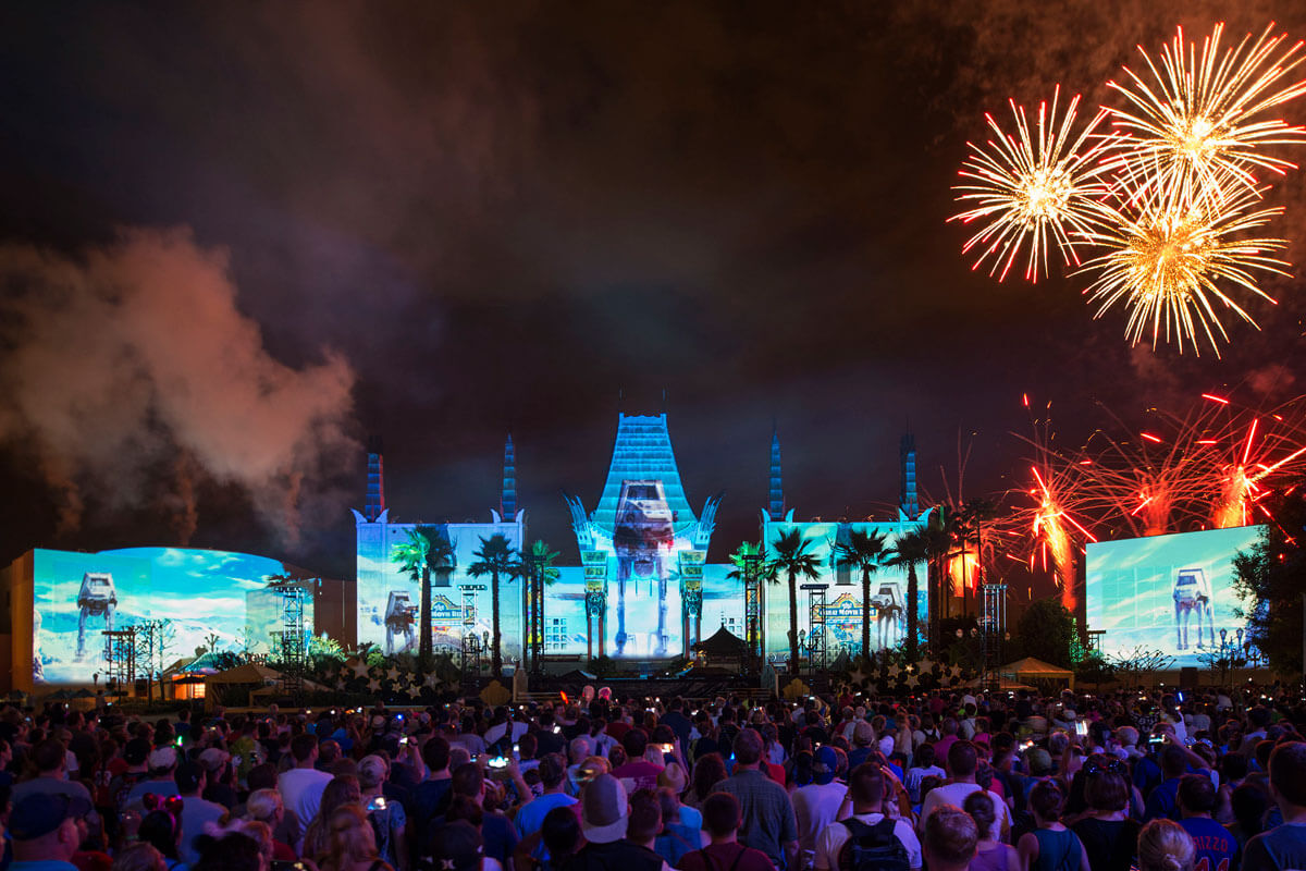 Star Wars: A Galactic Spectacular - Tips for the Star Wars Fireworks at Disney's Hollywood Studios, AT-AT