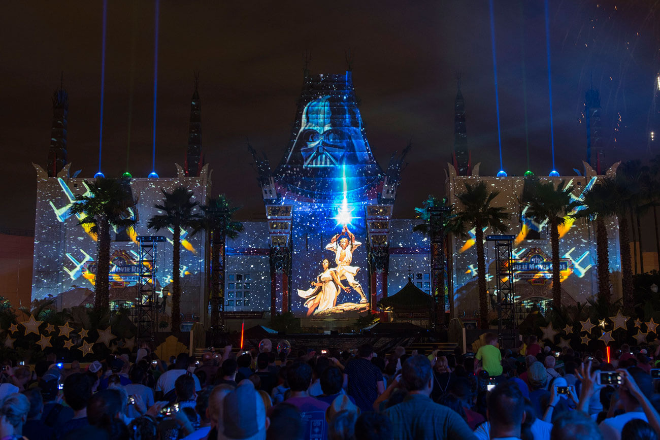 Star Wars: A Galactic Spectacular - Tips for the Star Wars Fireworks at Disney's Hollywood Studios, Luke and Leia