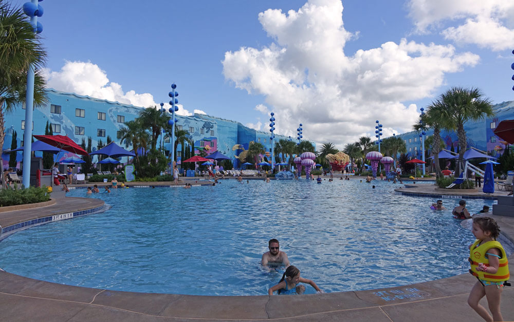 Best Pools at Disney World - Big Blue Pool at Disney's Art of Animation