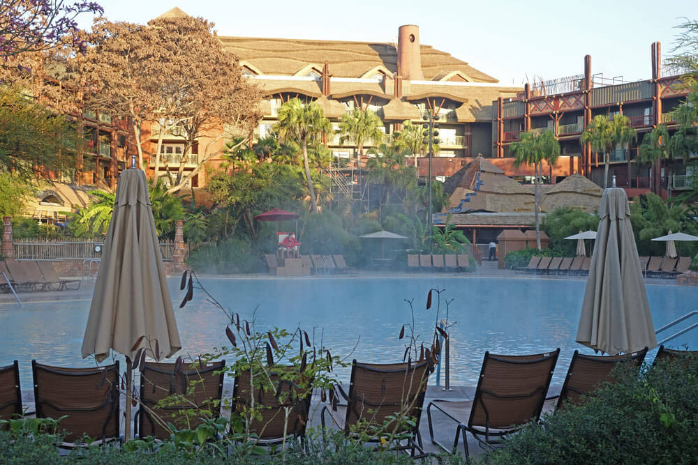 Best Pools at Disney World - Uzima Springs Pool at Disney's Animal Kingdom Lodge - Jambo House