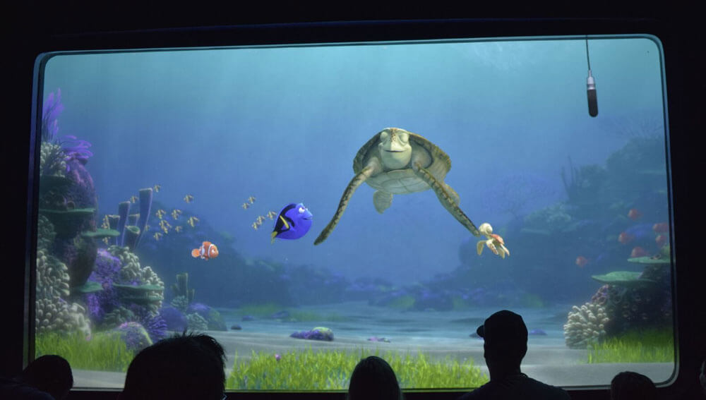 Finding Dory at Turtle Talk in Disney Animation
