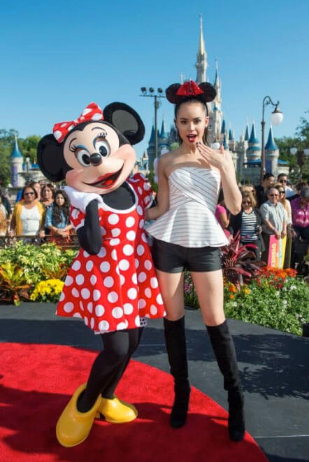 Sofia Carson at Magic Kingdom