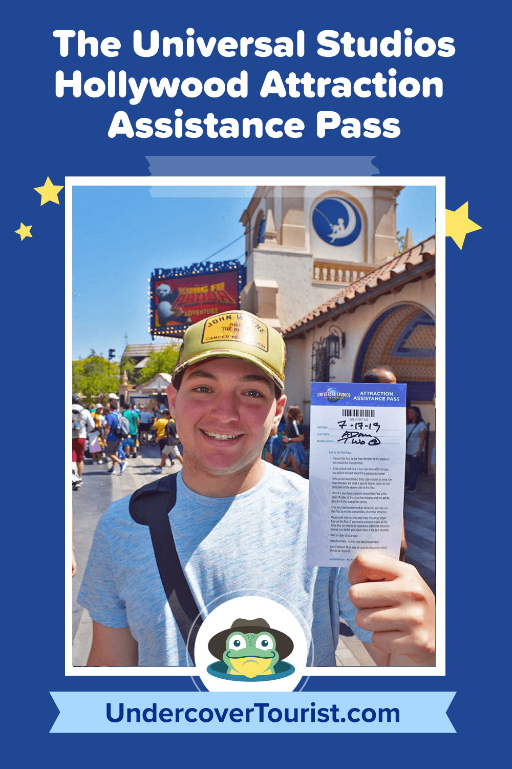 The Universal Studios Hollywood Attraction Assistance Pass - Pinterest
