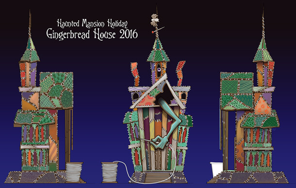 A First Look at Disneyland's Haunted Mansion Holiday Gingerbread House