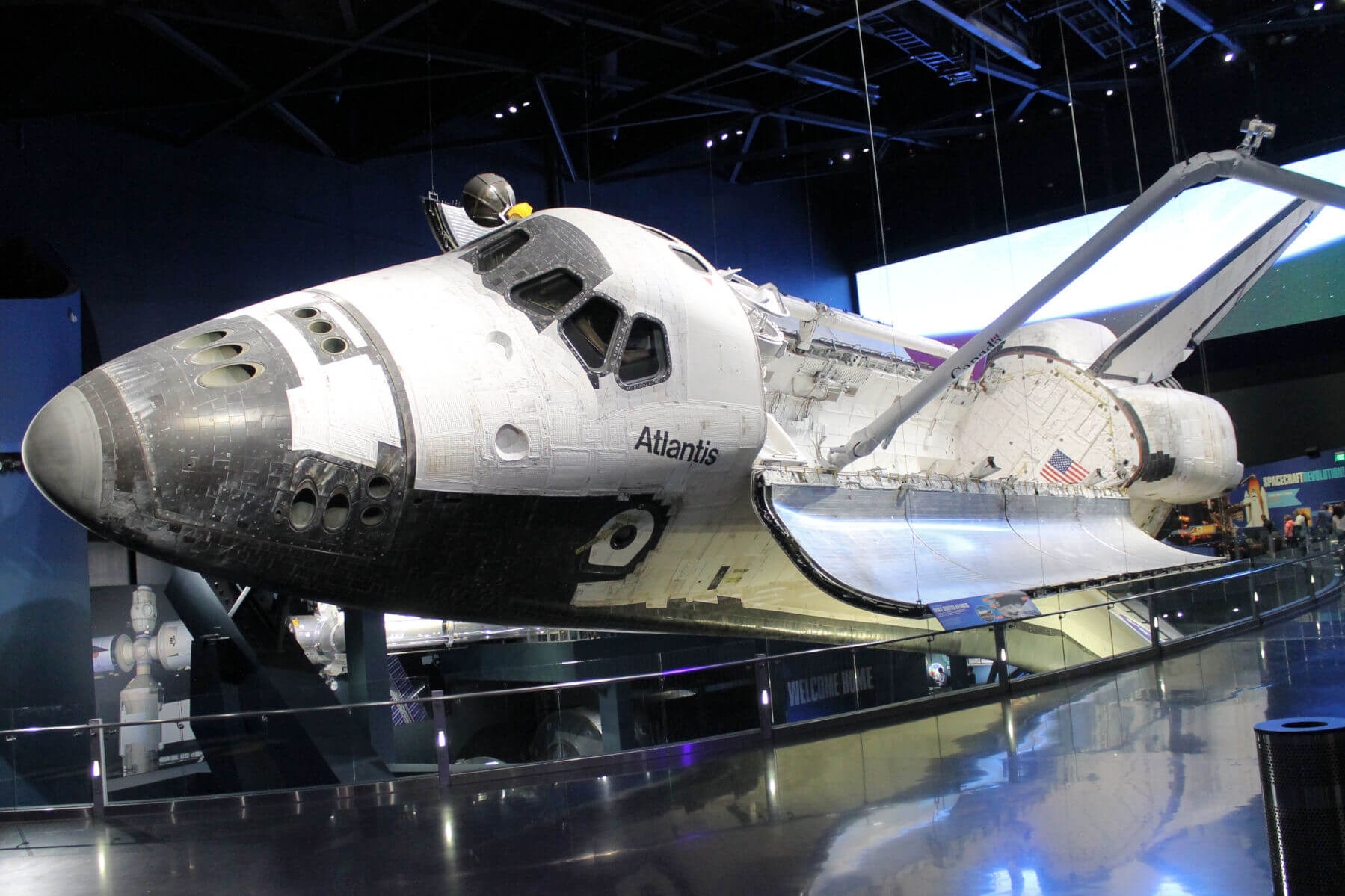 The Space Shuttle at Kennedy Space Center is a great vacation attraction during a Disney Cruise