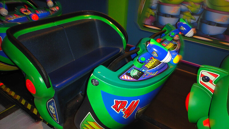 The Secret History of Disney Rides: Buzz Lightyear's Space Ranger Spin - Buzz Lightyear Vehicles